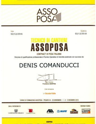 Certificato Assoposa Denis