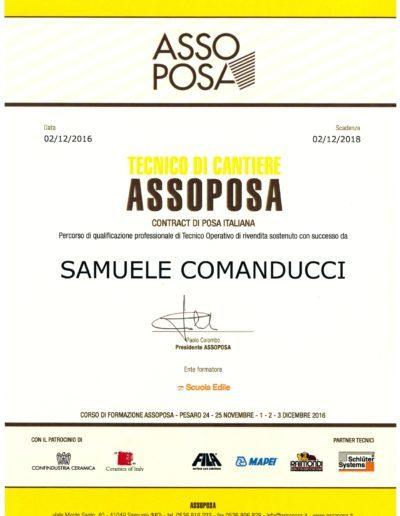 Certificato Samuele Assoposa