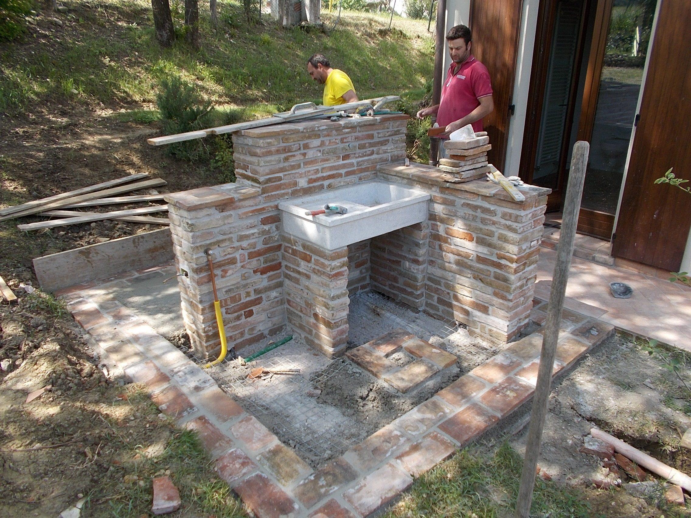 Scale esterne in muratura great scala dicemento with - Scale da esterno in muratura ...