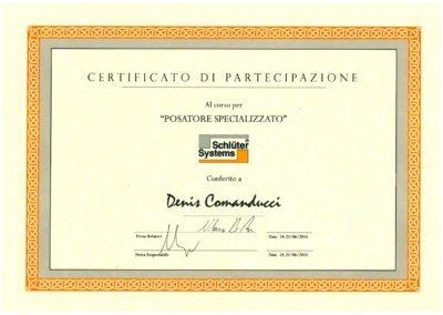 certificazione Schluters Denis
