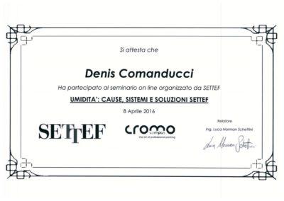 Attestato Denis Comanducci umidità cause, sistemi e soluzioni